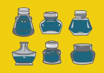 Ink Bottle Vector - vector gratuit #382217