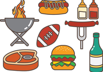 Free Tailgate Food Vector - Kostenloses vector #382227
