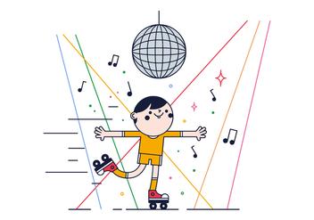 Free Skates Dance Vector - бесплатный vector #382337