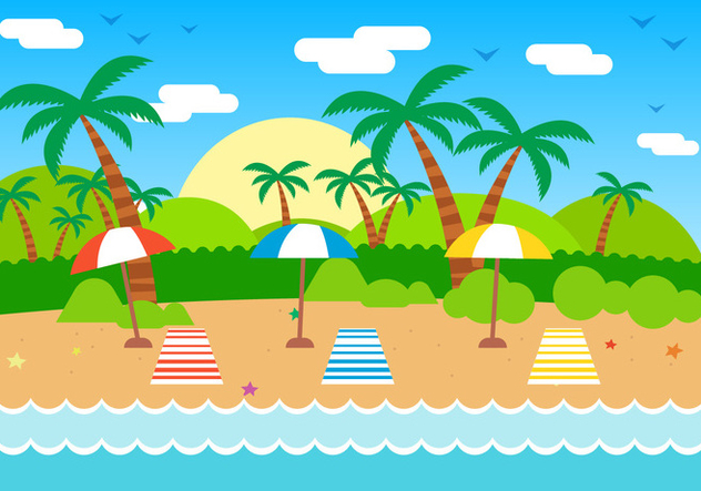 Free Summer Vector Illustration - Free vector #382547