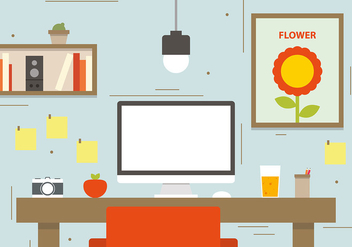Photographers Workspace Concept Vector Illustration - бесплатный vector #382757