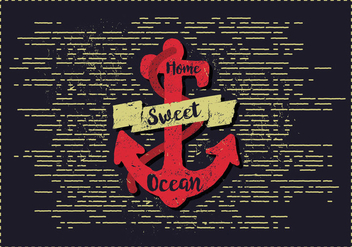Free Vintage Anchor Vector Illustration - Free vector #382797