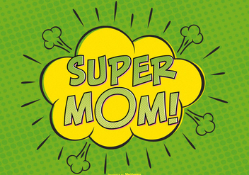Comic Super Mom Illutytration - Free vector #382907