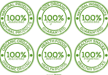 Organic Product Lables - Free vector #382957