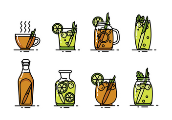 LEMONGRASS DRINK VECTOR - Free vector #383047