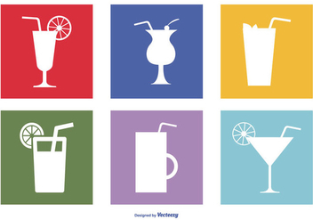 Assorted Drinks Icon Set - бесплатный vector #383307