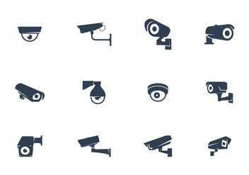 CCTV Cameras Vector - Kostenloses vector #383477