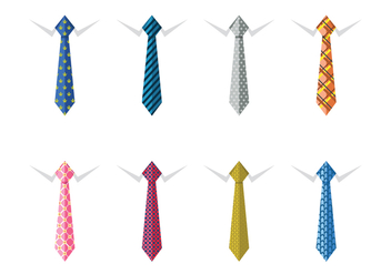 Male business silk neck ties - vector gratuit #383567