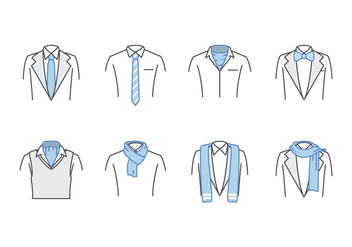 Free Neck Tie And Scarf Vector - vector gratuit #383697