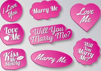 Free Marry Me Sign Typography Vector - бесплатный vector #383707