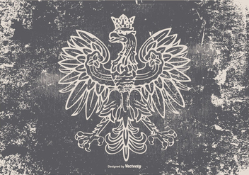 Grunge Polish Eagle Illustration - Free vector #383827