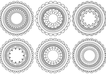 Decorative Flower Shapes - Free vector #383847