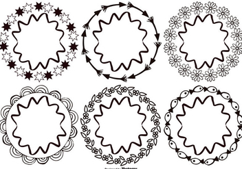 Hand Drawn Style Frames - vector #383887 gratis
