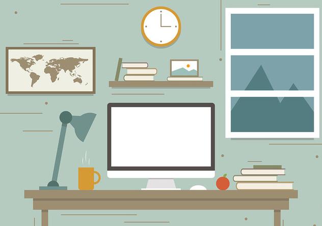 Free Traveler's Workstation Vector Illustration - Free vector #383907