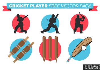 Cricket Player - Kostenloses vector #384067