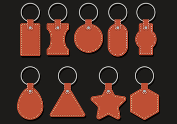 Leather Keychains Vectors - Kostenloses vector #384127
