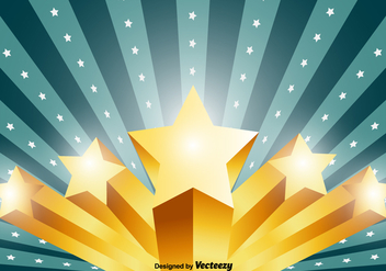Vector 3D Stars Background - Free vector #384137