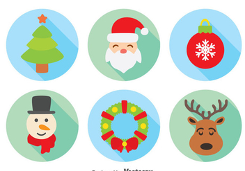 Christmas Element Collection Vector - Free vector #384287
