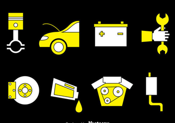 Car Maintenance Vector Set - Free vector #384307