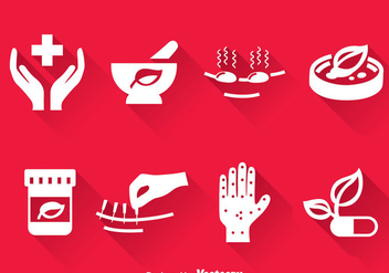 Alternative Medicine Icons Vector - vector gratuit #384387