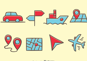 Map Legend Hand Drawn Icons - vector #384397 gratis