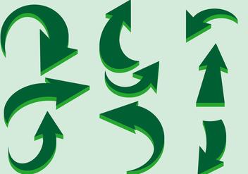 Green Flechas Vector - Free vector #384467