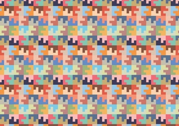 Pastel Square Random Pattern - Free vector #384487