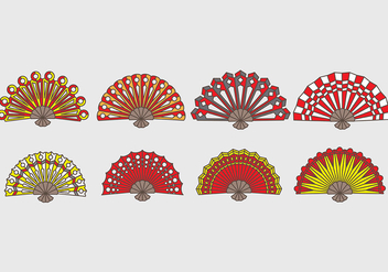 Spanish fan icons - Free vector #384497