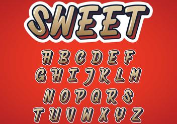 Sweet Alphabet Vector - Free vector #384517