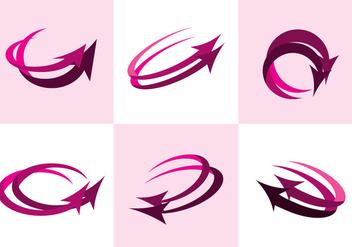 Pink Flechas Vector - Kostenloses vector #384647