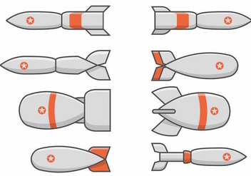 World War 2 Bomb Set - vector gratuit #384747