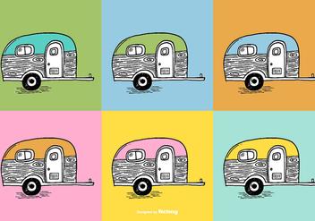 Trailer Camper Vectors - vector #384847 gratis