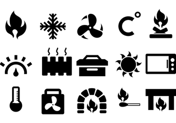 Heater and Heat Icon Vector - Kostenloses vector #384867