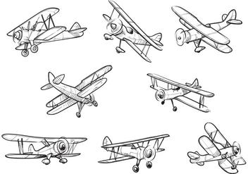Free Biplane Vectors - Free vector #384957