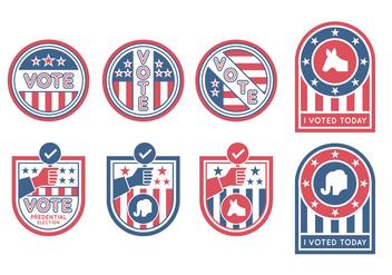 Election Badges Vectors - Kostenloses vector #385537