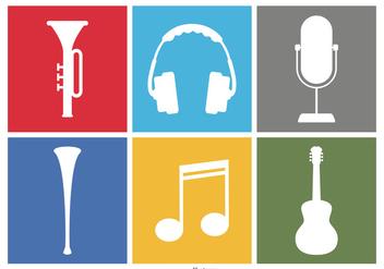 Music Icon Set - Kostenloses vector #385757