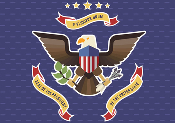 Presidential Seal Vector - Free vector #385777