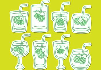 Caipirinha Drink Icons - бесплатный vector #385807