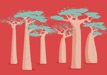 Baobab Vector - vector #385837 gratis