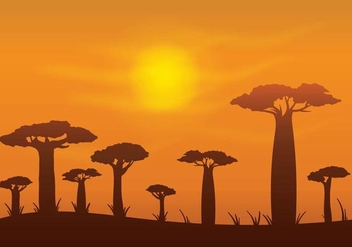Free Baobab Vector Background - Free vector #385997