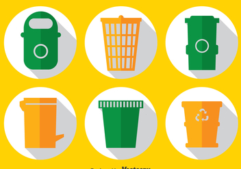 Garbage Bins Vector Set - Kostenloses vector #386007