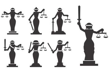 Lady Justice Vector - Kostenloses vector #386057