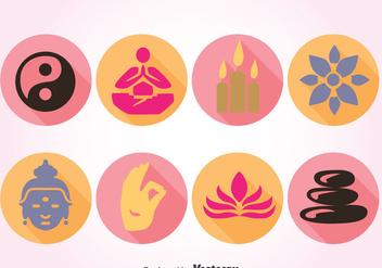 Symbol Of Buddha Vector - vector gratuit #386107