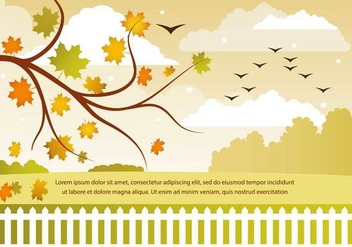 Free Vector Autumn Landscape - Free vector #386177