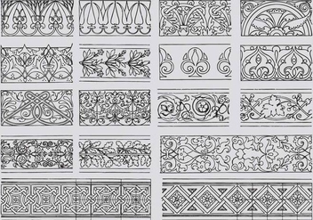 Ornamental Borders - Free vector #386277