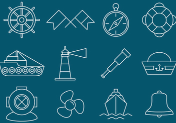 Nautical And Navigation Icons - vector #386467 gratis