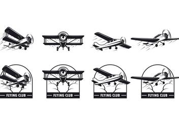 Set Of Biplane Vector - Free vector #386567
