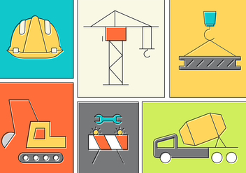 Free Construction Elements - Free vector #387137