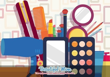 Beautiful Mom Vector Cosmetics - Free vector #387247