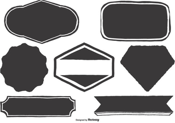 Blank Hand Drawn Labels - Kostenloses vector #387367